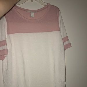 Pink and white t-shirt